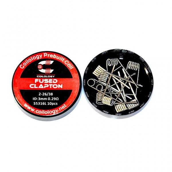 10 buc rezistente SS316L Fused Clapton - Coilology 0.29 ohm