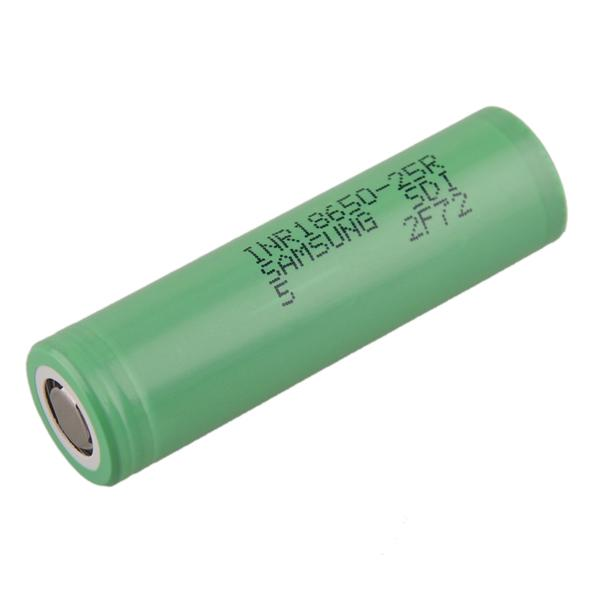 SAMSUNG INR18650-25R 2500mAh High-drain Battery - 12C, 30A