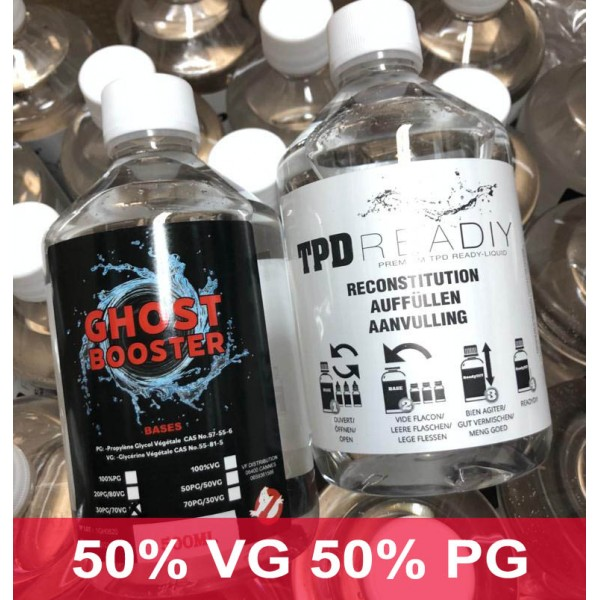 500 ml baza fara nicotina 50 VG - 50 PG Ghost Booster