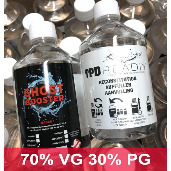 500 ml baza fara nicotina 70 VG - 30 PG Ghost Booster
