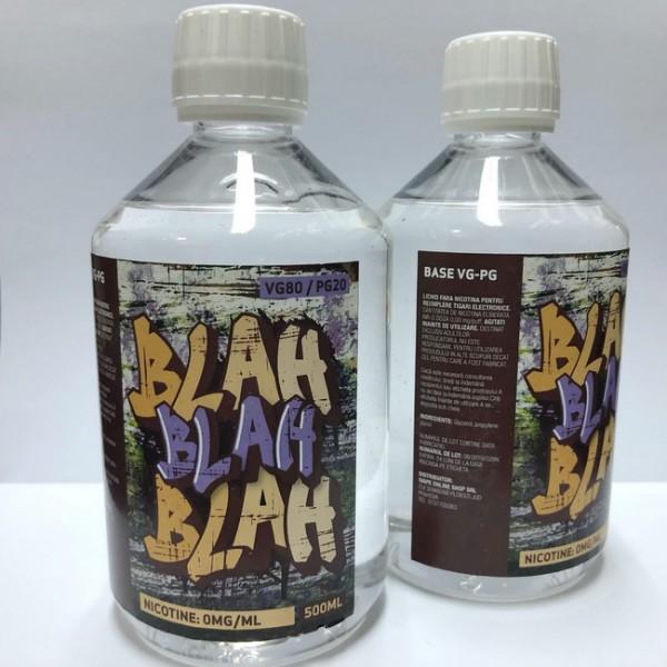 (blah80)baza 500 ml fara nicotina 80 VG - 20PG