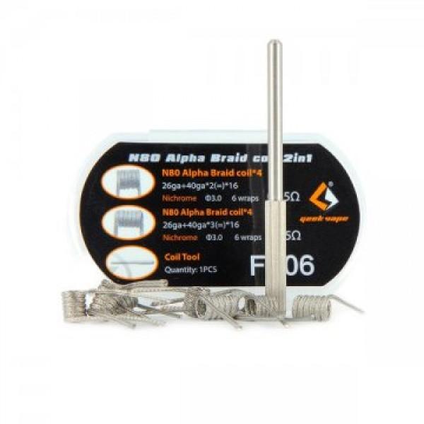 N80 Alpha Braid Coil 2in1 - Geekvape 8 buc