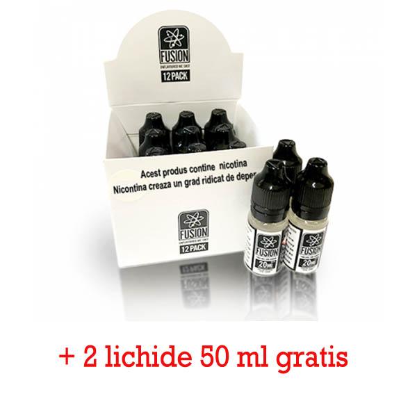 (10+2) fusion by Halo nicshot pachet 12 bucati + 2 Lichide Halo 50 ml GRATIS (Atomic 50 ml)