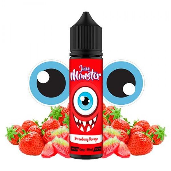 Din categoria Juice Monster - Juice Monster Strawberry Savage 50ml fara nicotina