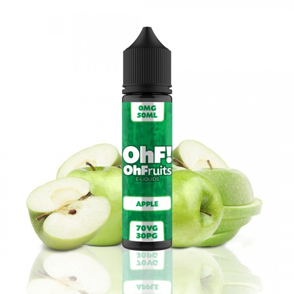 OhFruits E-Liquids Apple 50ml fara nicotina