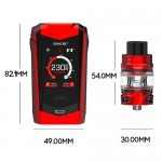 SMOK Species 230W Touch Screen TC Kit with TFV8 Baby V2 (black red)