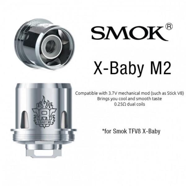 Din categoria rezistente de rezerva - (X) SMOK TFV8 X BABY M2 COIL 0.25 ohm