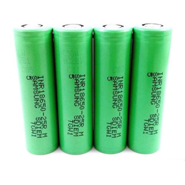 4 bucati Samsung INR18650-25R 2500mAh High-drain Battery - 12C, 30A