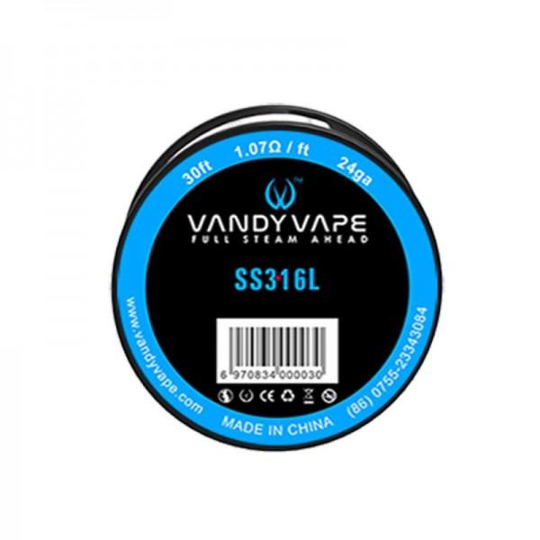 Din categoria modare - Vandyvape rola ss316 24GA (VW.0003) - 10 m